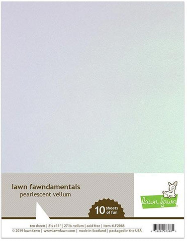 Lawn Fawn - PEARLESCENT VELLUM Cardstock 8.5X11 Paper Pack