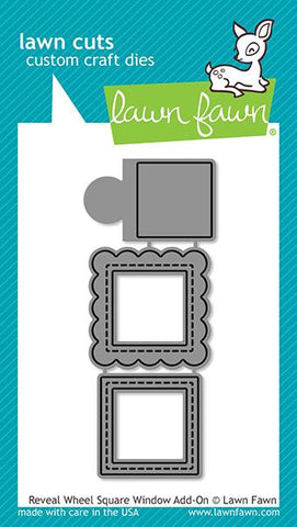 Lawn Fawn - REVEAL WHEEL SQUARE WINDOW ADD-ON - Lawn Cuts Die - 20% OFF!