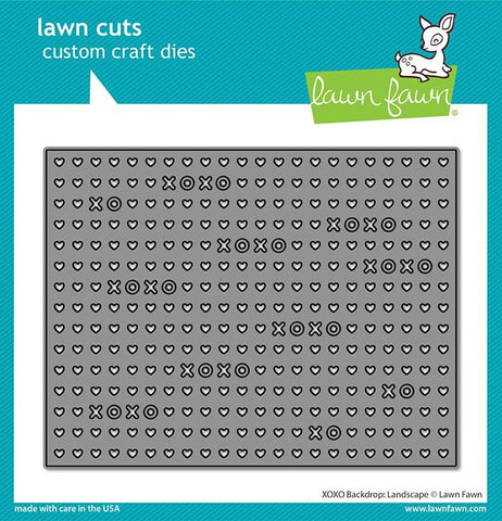 Lawn Fawn - XOXO Backdrop: LANDSCAPE - Lawn Cuts Die - 30% OFF!