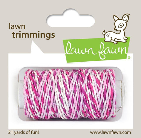 Lawn Fawn - Hemp Cord - Lawn Trimmings PRETTY IN PINK Sparkle - Pre-Order