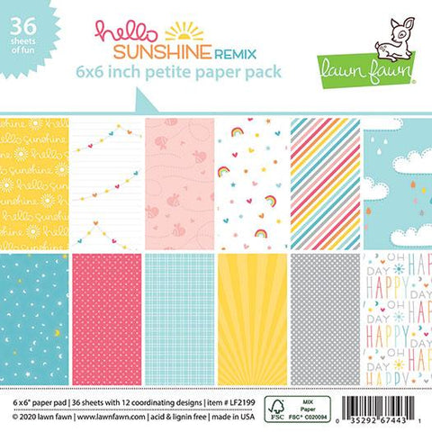 Lawn Fawn - HELLO SUNSHINE REMIX - Petite Paper Pack 6x6