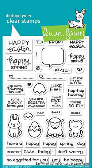 Lawn Fawn - SAY WHAT? SPRING CRITTERS - Stamps Set - 25% OFF!