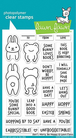 Lawn Fawn - DON'T WORRY BE HOPPY - Stamps Set - Pre-Order