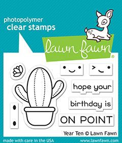 Lawn Fawn - YEAR TEN - CACTUS - Stamps Set - Pre-Order