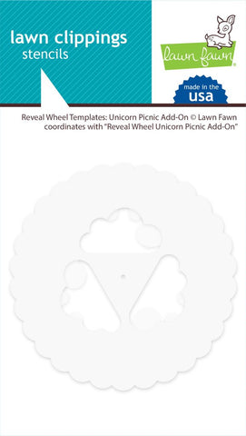 Lawn Fawn - Reveal Wheel Template UNICORN PICNIC ADD-ON