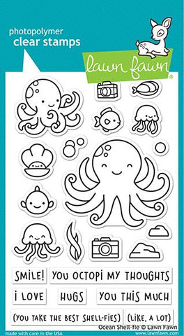 Lawn Fawn - OCEAN SHELL-FIE - Stamps Set - 20% OFF!
