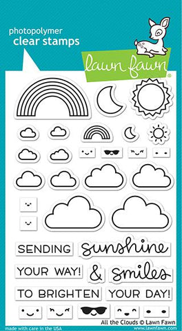 Lawn Fawn - ALL THE CLOUDS - Stamps Set - 20% OFF!