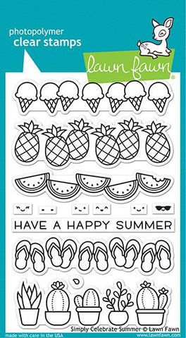 Lawn Fawn - Simply Celebrate SUMMER - Stamps Set