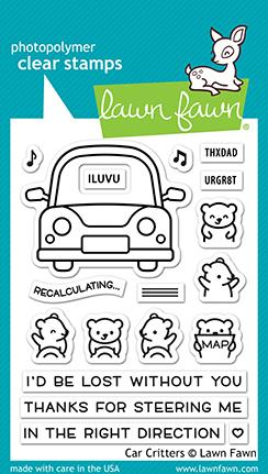 Lawn Fawn - CAR CRITTERS - Stamps Set