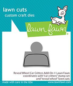 Lawn Fawn - Reveal Wheel CAR CRITTERS Add-On - Die
