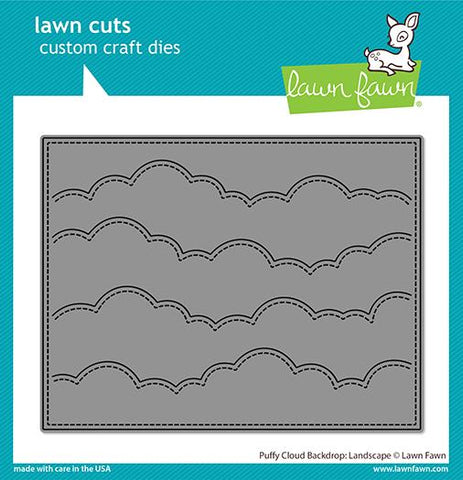 Lawn Fawn - PUFFY CLOUD Backdrop - Landscape - Lawn Cuts DIE