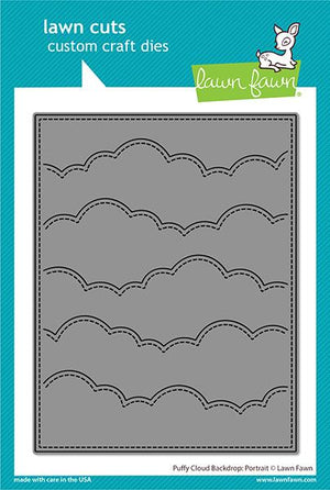 Lawn Fawn - PUFFY CLOUD Backdrop - Portrait - Lawn Cuts DIE - 20% OFF!