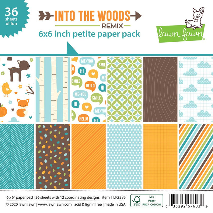 Lawn Fawn - INTO THE WOODS REMIX - Petite Paper Pack 6x6
