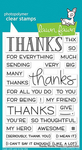 Lawn Fawn - THANKS THANKS THANKS - Stamps Set - 20% OFF!