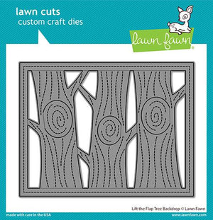 Lawn Fawn - LIFT THE FLAP TREE BACKDROP - Die