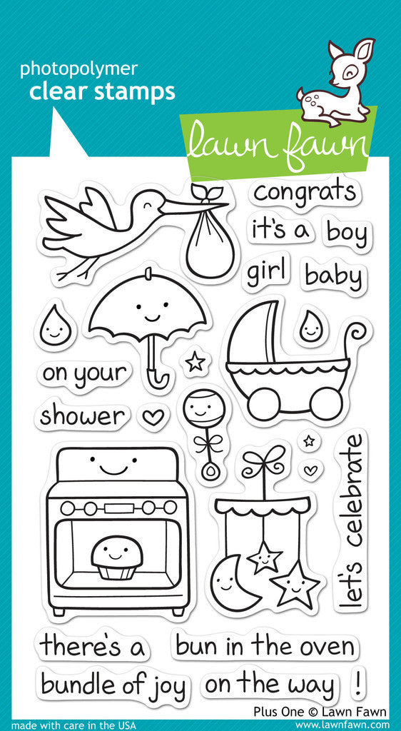 Lawn Fawn - PLUS ONE - Clear Stamps set - 25% OFF!