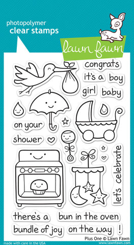 Lawn Fawn - Plus One - CLEAR STAMPS 25 pc - Hallmark Scrapbook - 1
