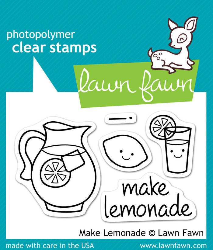 Lawn Fawn - MAKE LEMONADE - Clear STAMPS 5pc