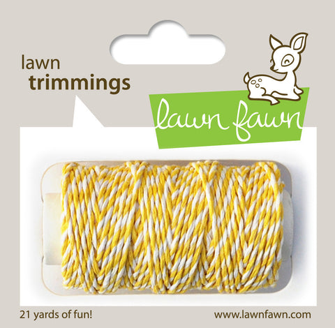 Lawn Fawn - Hemp Cord - Lawn Trimmings LEMON - Hallmark Scrapbook