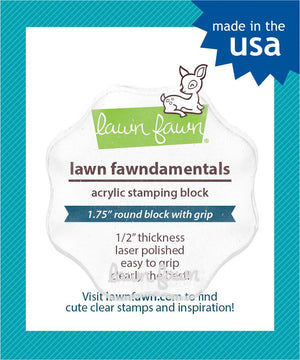 "Lawn Fawn - Acrylic Stamping Block - 1.75"" ROUND BLOCK"