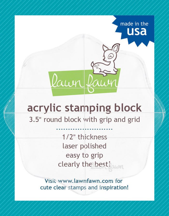 "Lawn Fawn - Acrylic Stamping Block - 3.5"" ROUND BLOCK"
