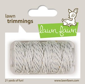 Lawn Fawn - Hemp Cord - Lawn Trimmings SILVER SPARKLE - Hallmark Scrapbook