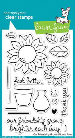 Lawn Fawn - Our Friendship Grows - CLEAR STAMPS *