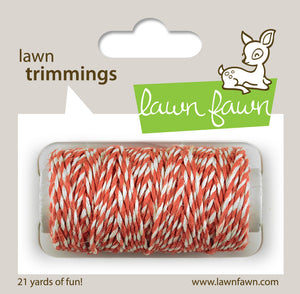 Lawn Fawn - Hemp Cord - Lawn Trimmings CORAL - Hallmark Scrapbook - 1