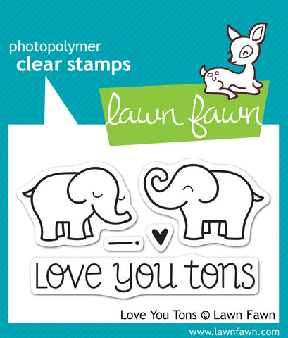 Lawn Fawn - Love You Tons - CLEAR STAMPS 5 pc - Hallmark Scrapbook - 1