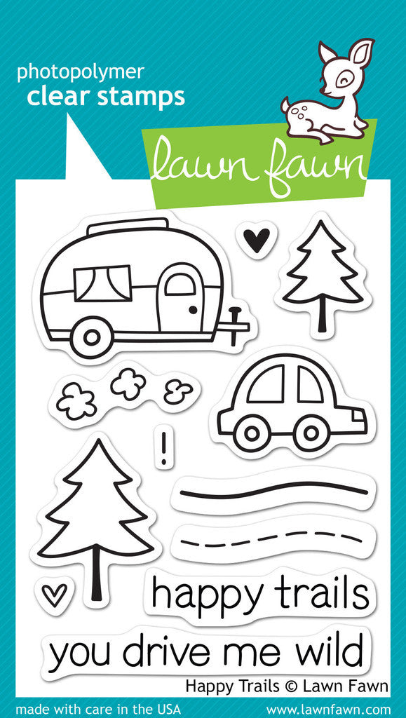Lawn Fawn - Happy Trails - CLEAR STAMPS 12 pc