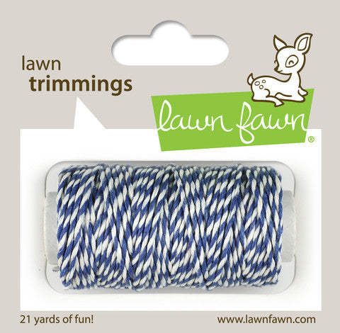 Lawn Fawn - Hemp Cord - Lawn Trimmings BLUE JAY - Hallmark Scrapbook - 1
