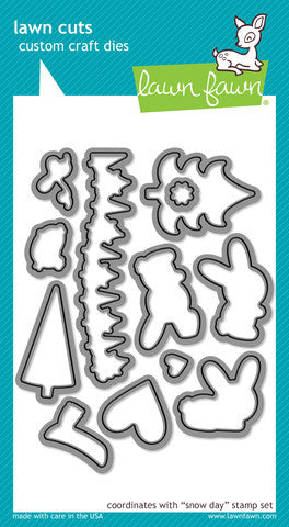 Lawn Fawn - Snow Day - LAWN CUTS dies 18 pc - Hallmark Scrapbook - 1