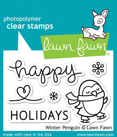 Lawn Fawn - Winter Penguin - CLEAR STAMPS 5 pc *