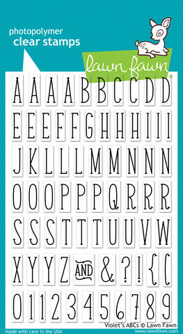 Lawn Fawn - Violet's ABC's - CLEAR STAMPS 73pc - Hallmark Scrapbook - 1