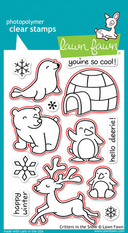 Lawn Fawn - Critters In the Snow - LAWN CUTS dies 11 pc - Hallmark Scrapbook - 4
