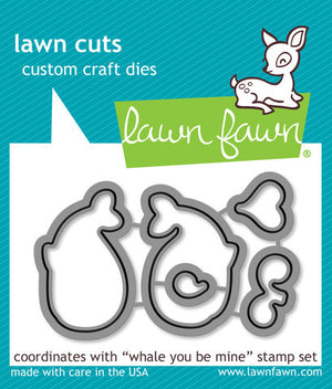 Lawn Fawn - WHALE YOU BE MINE - Lawn Cuts DIES - Hallmark Scrapbook - 1