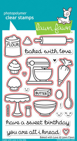 Lawn Fawn - BAKED WITH LOVE - Lawn Cuts DIES 16pc - Hallmark Scrapbook - 3