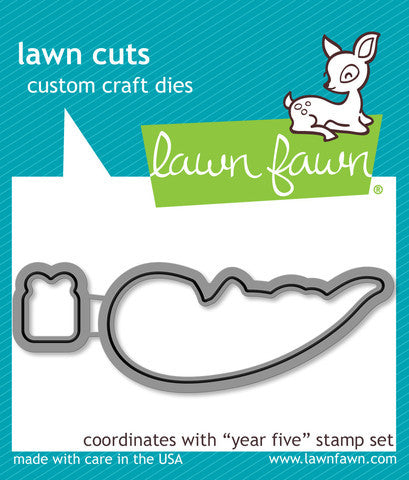 Lawn Fawn - YEAR FIVE (otter) - Lawn Cuts DIES 2pc