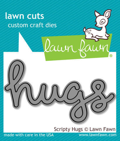 Lawn Fawn - Scripty HUGS - Lawn Cuts DIE 1 pc