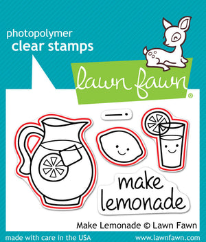 Lawn Fawn - MAKE LEMONADE - Lawn Cuts DIES 3pc - Hallmark Scrapbook - 2