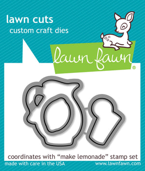 Lawn Fawn - MAKE LEMONADE - Lawn Cuts DIES 3pc - Hallmark Scrapbook - 1