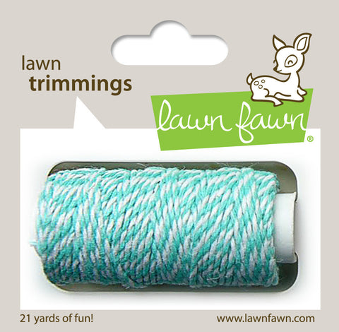 Lawn Fawn - Hemp Cord - Lawn Trimmings AQUAMARINE - Hallmark Scrapbook