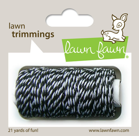 Lawn Fawn - Hemp Cord - Lawn Trimmings BLACK TIE SINGLE - Hallmark Scrapbook