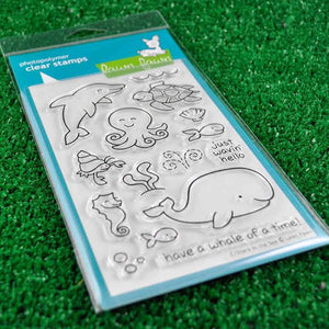 Lawn Fawn - Critters in the Sea - CLEAR STAMPS 18 pc - Hallmark Scrapbook - 5