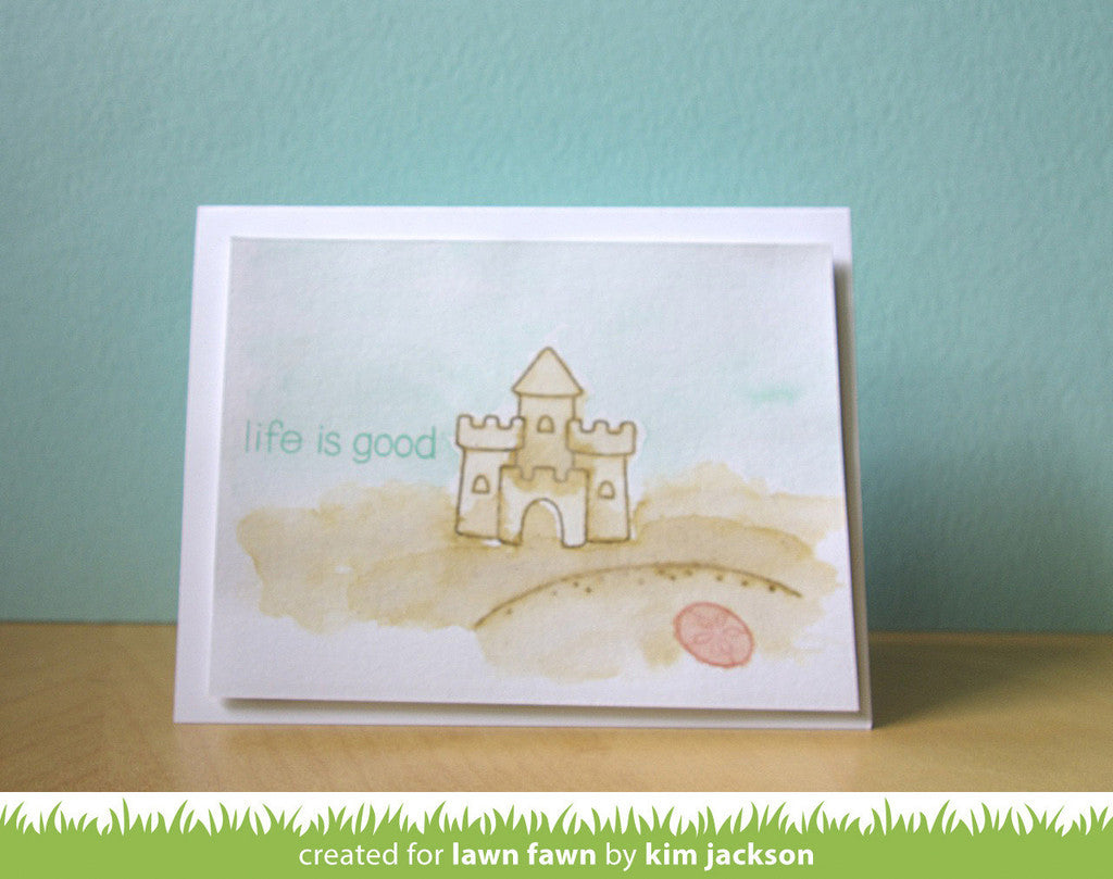 How to scrapbook good -  Lawn Fawn Life Is Good Clear Stamps 25 Pc Hallmark Scrapbook 3
