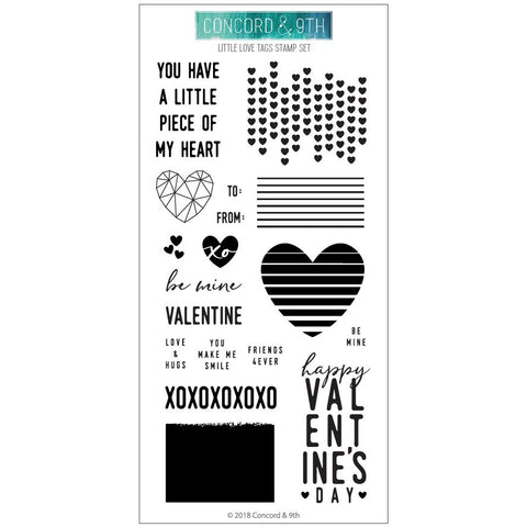 Concord & 9th - LITTLE LOVE TAGS Clear Stamps set