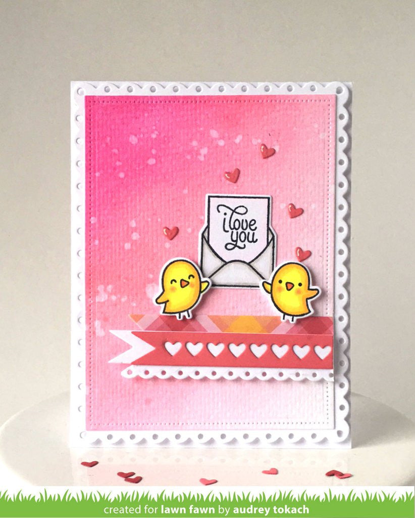 lawn fawn love letters clear stamps hallmark scrapbook With lawn fawn love letters