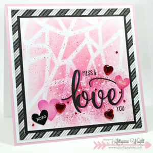 Pink & Main - TRUE LOVE - Stamp set - Hallmark Scrapbook - 2