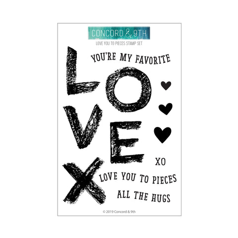 Concord & 9th - LOVE YOU TO PIECES Stamps set