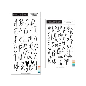 Concord & 9th - LOVELY LETTERS Lowercase and Uppercase - BUNDLE Stamp Sets
